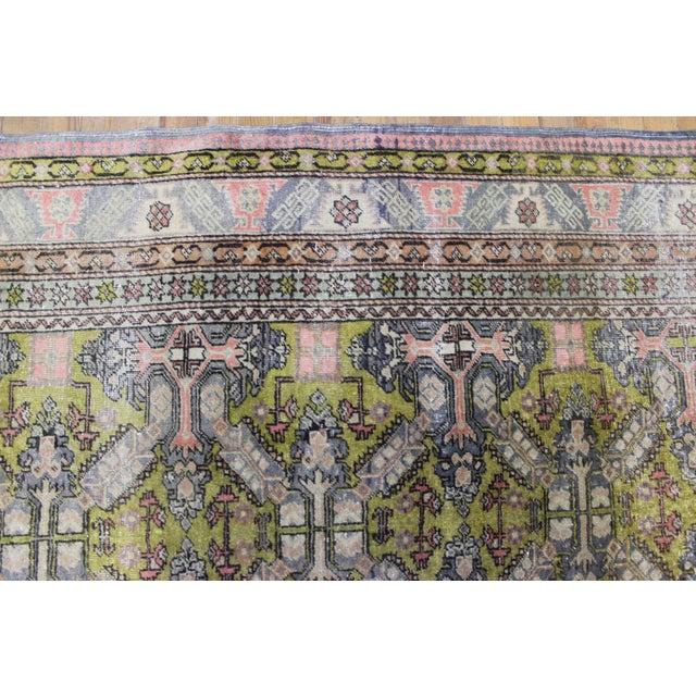 6.7x9.4 Feet Oriental Turkish Antalya Vintage Rug - Image 6 of 9