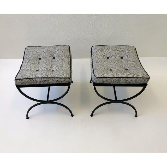 Black Black Sculptura Ottomans by Woodard - a Pair For Sale - Image 8 of 11