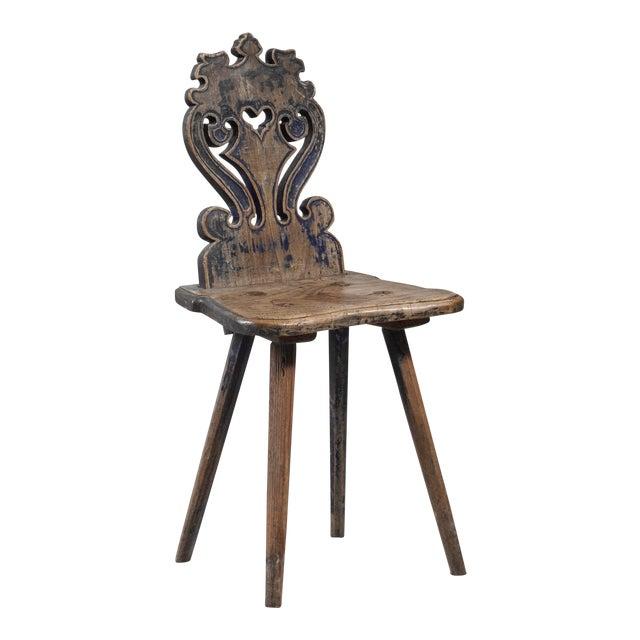 Swedish folk art chair, 19th century For Sale