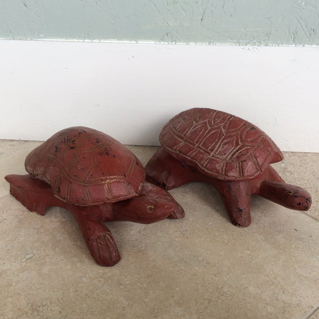 These turtle sculptures double as treasure boxes. Perfect addition to your home. You can put them in a kids room, in the...