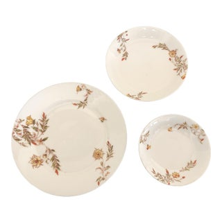 Haviland Limoges Bread & Butter Plates With Side Small Bowls - Set of 7 For Sale