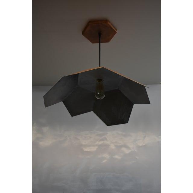 Contemporary Oblik Studio Inc Light Tan Patina Ceiling Pendant For Sale - Image 3 of 5