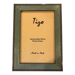 Tizo Designs Italian 4 X 6 Handcrafted Wood Photo Frame For Sale