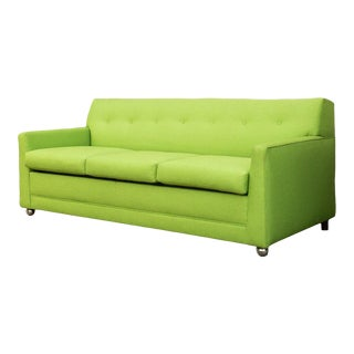 1960s Vintage Bright Green Loveseat For Sale