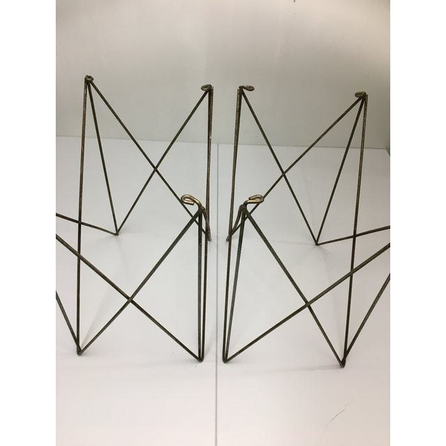 Mid-Century Modern Steel Wire Side Table Bases - a Pair For Sale - Image 4 of 11