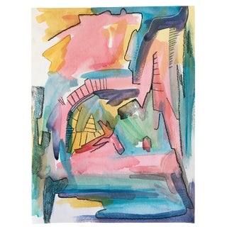 Playful Abstract Watercolor Original Art For Sale