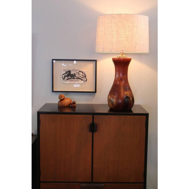 Hand-Crafted Mesquite Wood Lamp - Image 6 of 10
