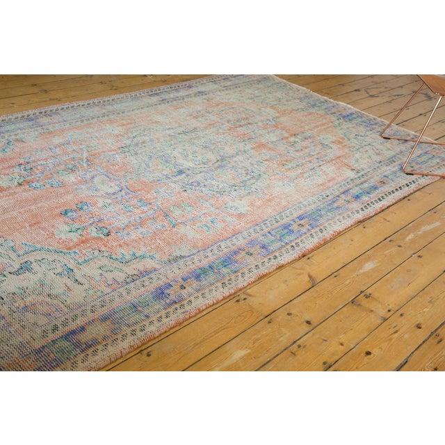 "Vintage Distressed Oushak Carpet - 6'2"" X 9'8"" For Sale - Image 10 of 13"