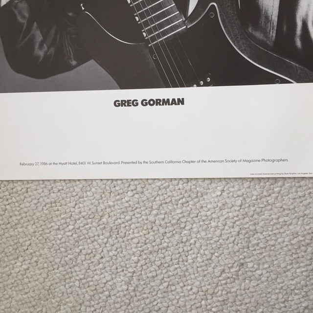 Greg Gorman David Bowie Original 1986 Promo Poster For Sale In Los Angeles - Image 6 of 7