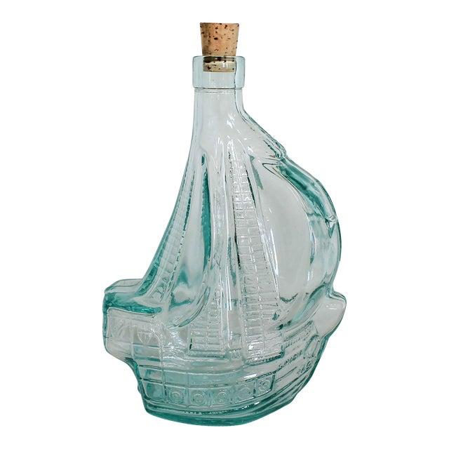 Glass Sailboat Bottle For Sale