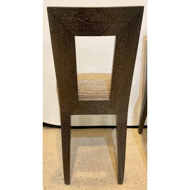Donghia Set Ten Donghia 'Margarita' Design Dining Chairs Pickled Oak, Labeled Donghia For Sale - Image 4 of 12
