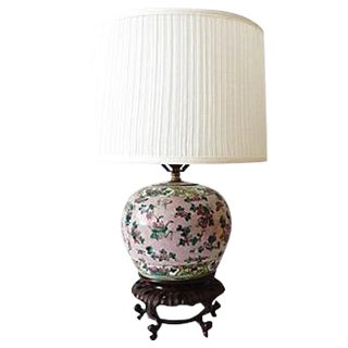 19th Famille Rose Porcelain Lamp For Sale