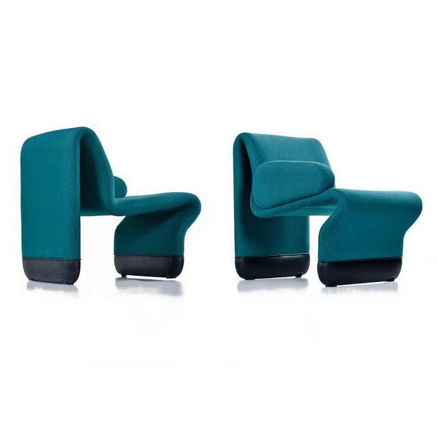 Mid-Century Modern Jan Ekselius Style Modern Modular Teal Tweed Sectional Sofa Seating - Set of 10 For Sale - Image 3 of 13