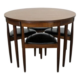 Mid-Century Danish Modern Hans Olsen Teak Roundette Dining Set For Sale