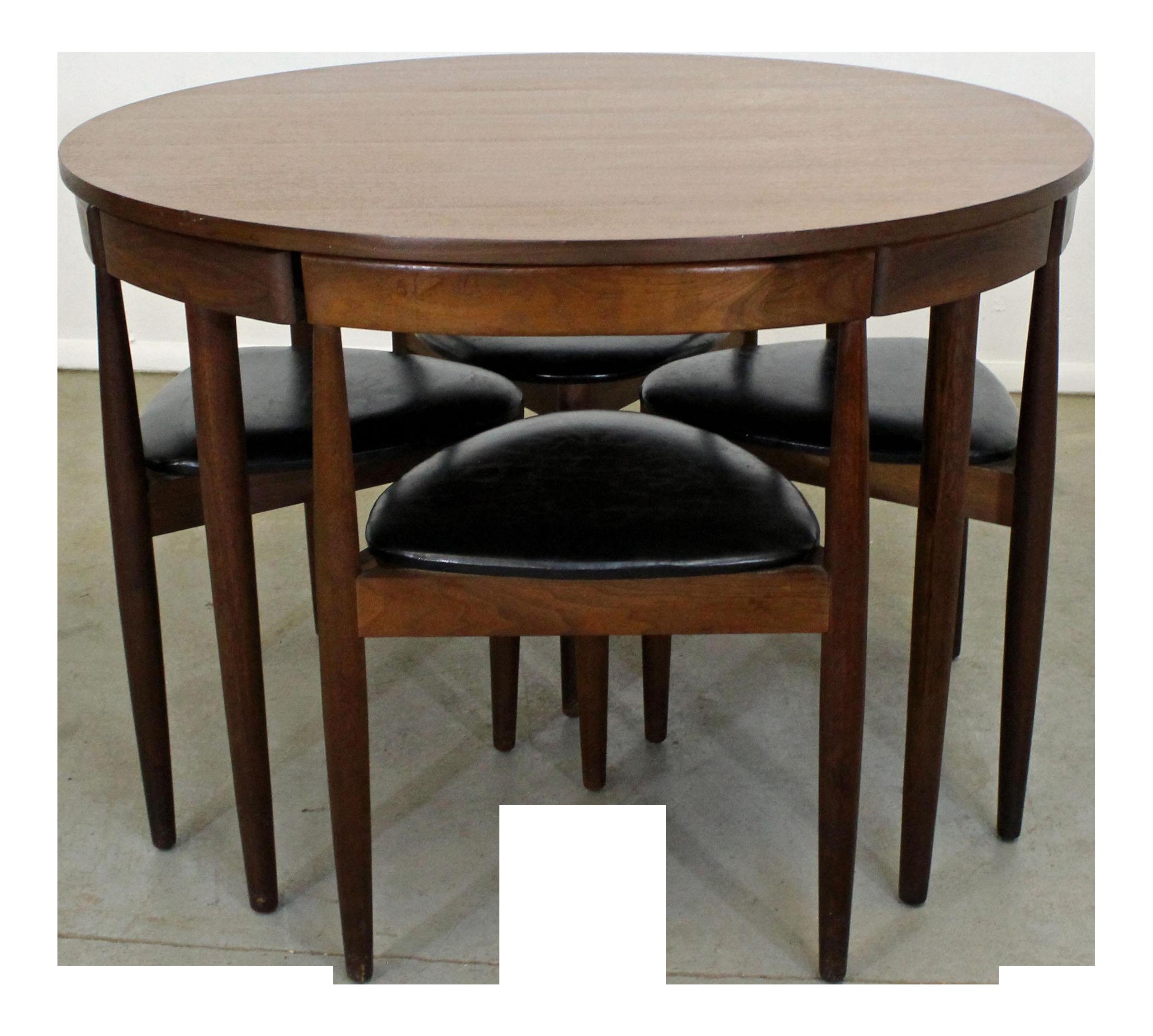 Amazing Mid Century Danish Modern Hans Olsen Teak Roundette Dining Set