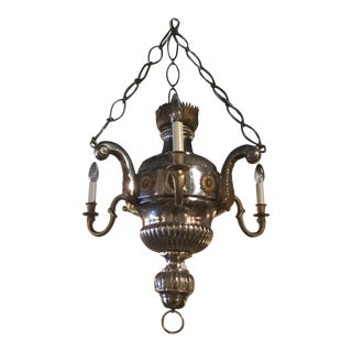 19th C. Silver and Gilt Bronze Chandelier For Sale