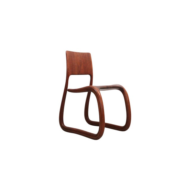 Contemporary Sculptural Walnut Chair by David Flatt For Sale - Image 3 of 13