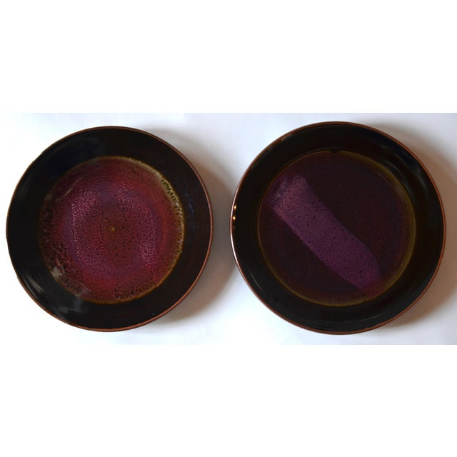 Eight Gorgeous Dinner Plates by Berkeley Studio Artist Gary Holt For Sale - Image 4 of 11