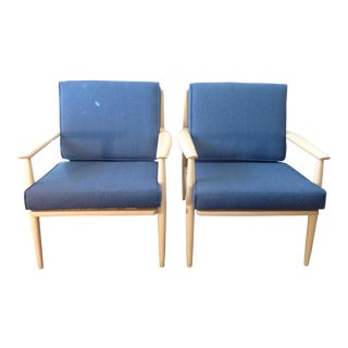 Vintage Scandinavian Ib Larson Armchairs - a Pair For Sale