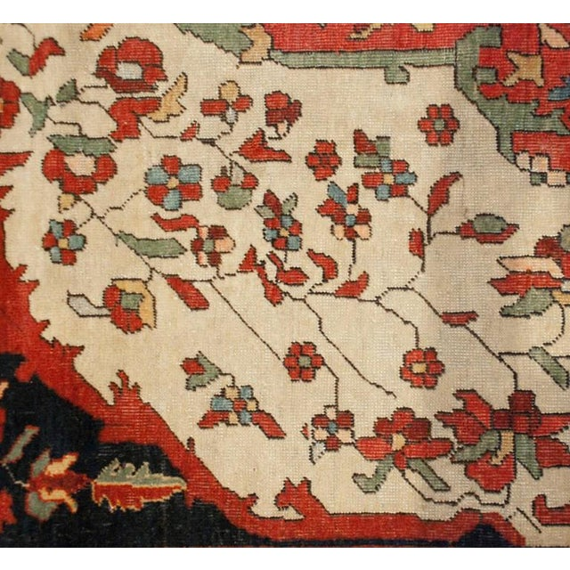 19th Century Sarouk Farahan Rug - 4′2″ × 6′9″ For Sale - Image 4 of 5