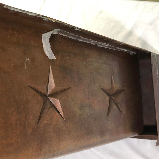 """Hammered Copper 33"""" Star Apron Sink For Sale - Image 11 of 13"""