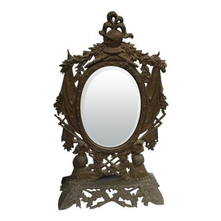 Gothic Style Military Motif Table Mirror For Sale