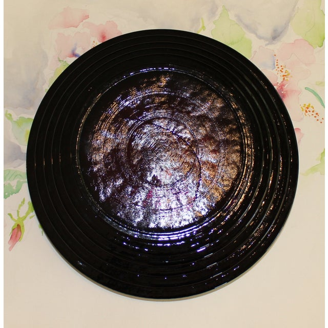 1990s Vintage Blenko Amethyst Serving / Decorative Bowl For Sale - Image 5 of 6