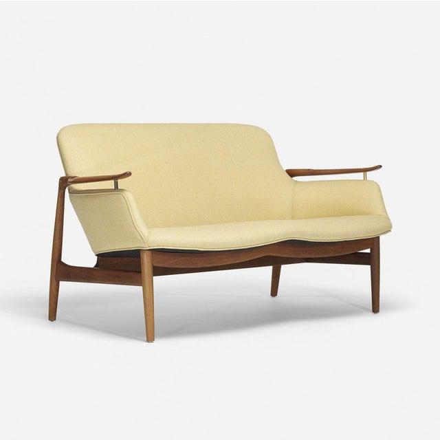 1950s Finn Juhl Settee for Niels Vodder For Sale - Image 5 of 5