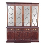 Image of Fine Mahogany Kittinger Furniture Richmond Hill Collection Breakfront China Cabinet For Sale