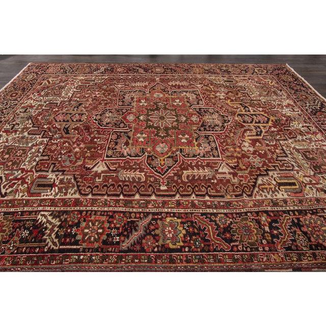 "Textile Apadana - Vintage Persian Heriz Rug, 9'2"" x 11'6"" For Sale - Image 7 of 7"