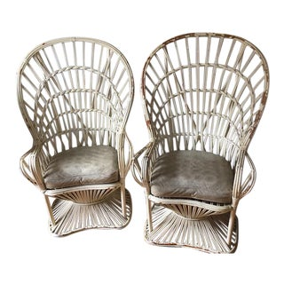 1950s or 60's Vintage Decorative Peacock Chairs- a Pair For Sale