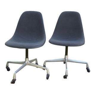 Vintage Herman Miller/Eames Swivel Chairs - a Pair For Sale