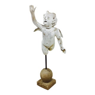 Antique Garden Cherub Sculpture For Sale