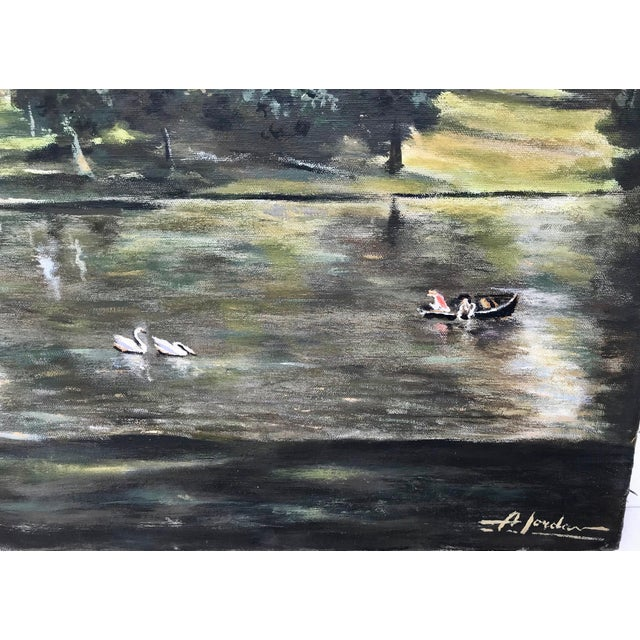1940s Vintage English Country Scene Painting For Sale In Los Angeles - Image 6 of 7