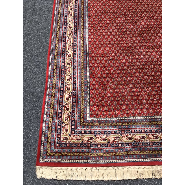 1990s Handknotted Mir Area Rug- 8′7″ × 11′11″ For Sale In Raleigh - Image 6 of 13