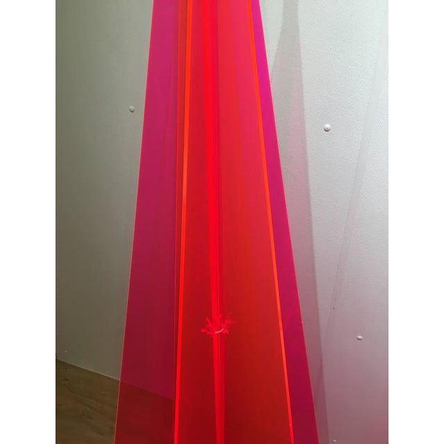 1970s Pink Lucite Tree Form Sculptures - a Pair - Image 4 of 8