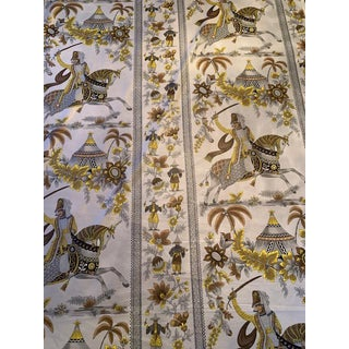 Mid-Century Chintz Asian Fabric - 7 Yards For Sale