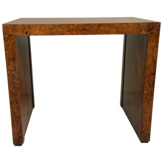 Burlwood Table Designed by Milo Baughman For Sale