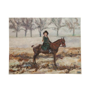 "Grace B. Keogh ""Riding in the Mist"" Painting For Sale"