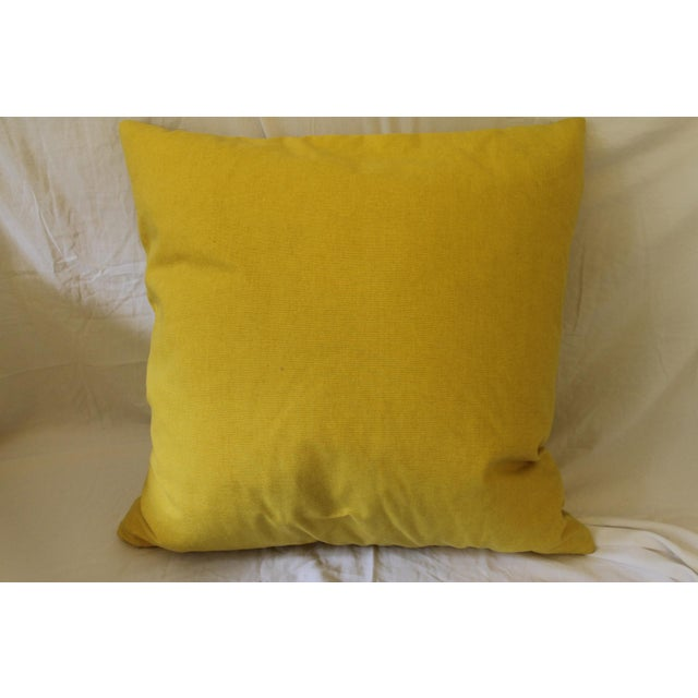 Canary Yellow Yellow and White Pillows- A Pair For Sale - Image 8 of 9