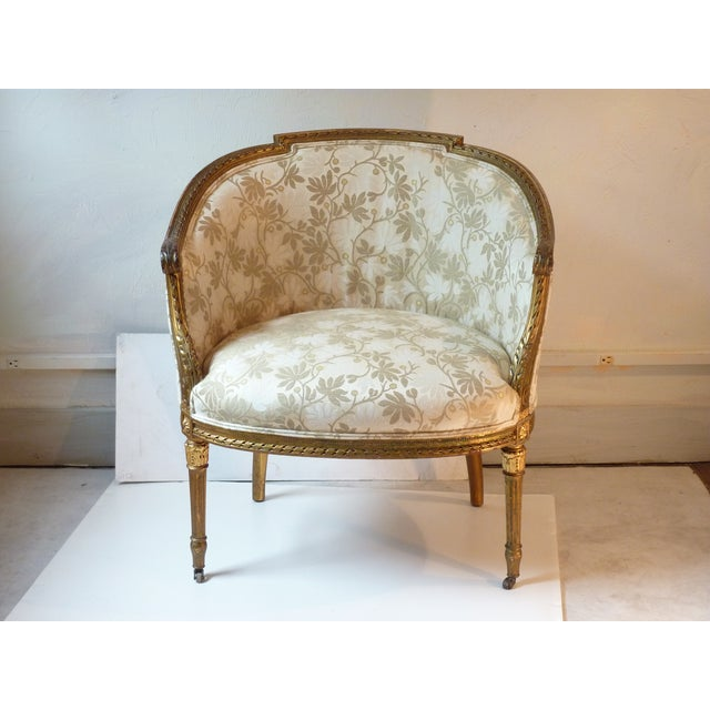 French Giltwood Bergere Chair - Image 7 of 11