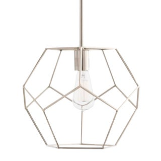 Arteriors Large Nickel Dodecahedron Mara Pendant For Sale