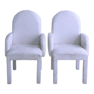 1980s Vintage Vaporwave Parsons Armchairs- A Pair For Sale