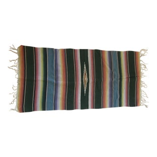 Mexican Saltillo Serape Wall Hanging For Sale