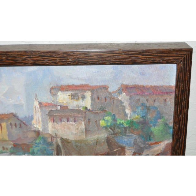 Vintage Impressionist Oil Painting by Gabetto For Sale - Image 4 of 8