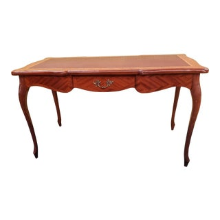 Vintage French Leather Top Writing Desk For Sale