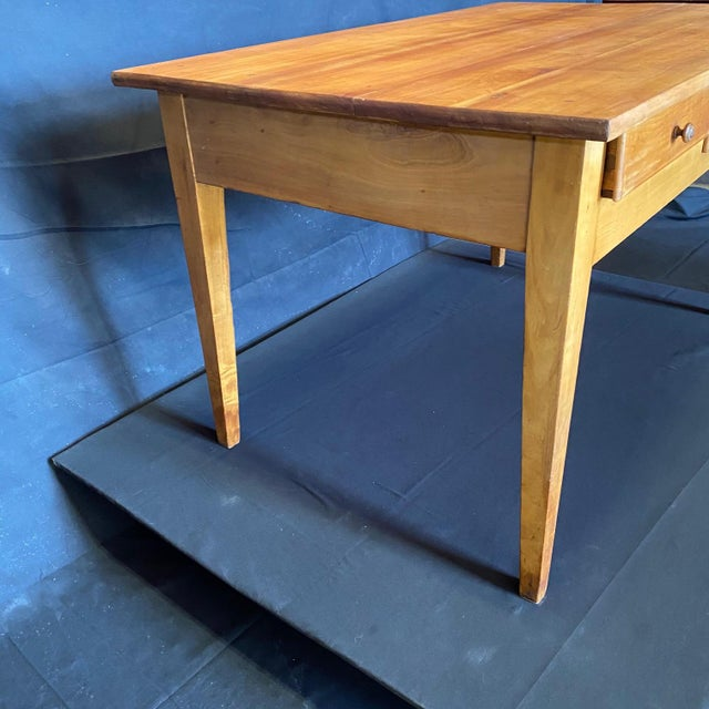 Brown French 19th Century Natural Pine Desk For Sale - Image 8 of 11