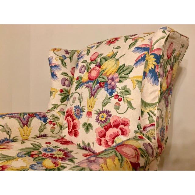 Newly Upholstered Georgian Style Wingback Chairs - a Pair For Sale - Image 4 of 11
