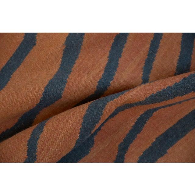 """Asian Vintage Indian Tiger Kilim Design Carpet - 9'1"""" X 12'1"""" For Sale - Image 3 of 9"""