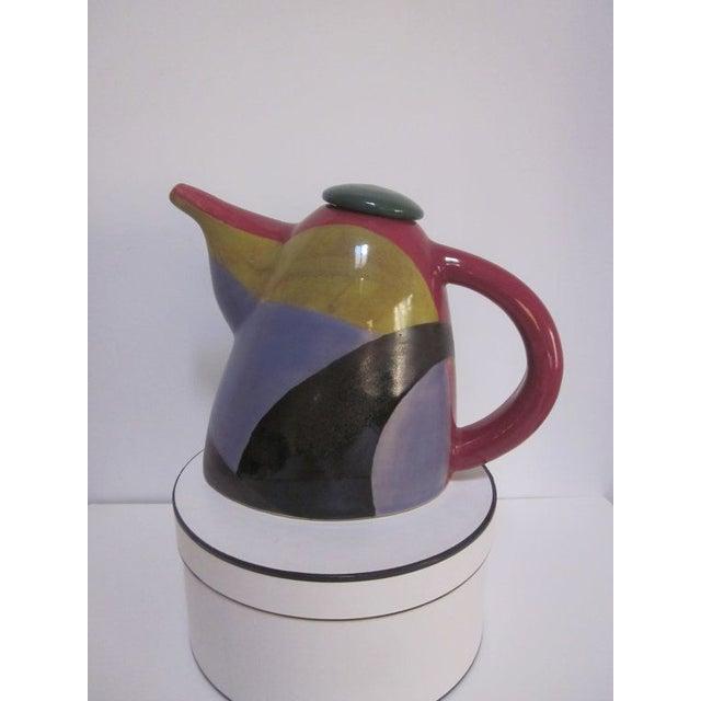 Signed Chris Simoncelli Modernist Studio Teapot - Image 2 of 3